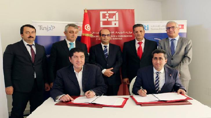 Signature d'une Convention entre le MTCEN et la Société « Level4 » dans le Domaine de l'Installation et l'Exploitation d'un Réseau Public de Télécommunications en Tunisie pour Fournir des services de Gros Très Haut Débit