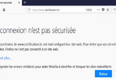 Firefox vient de refuser l'inclusion du certificat de l'ANCE