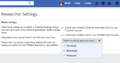 New Settings Let Hackers Easily Pentest Facebook, Instagram Mobile Apps