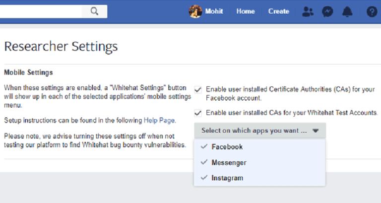 New Settings Let Hackers Easily Pentest Facebook, Instagram Mobile Apps