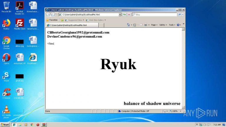 Ryuk Ransomware Keeps Targeting Hospitals During the Pandemic