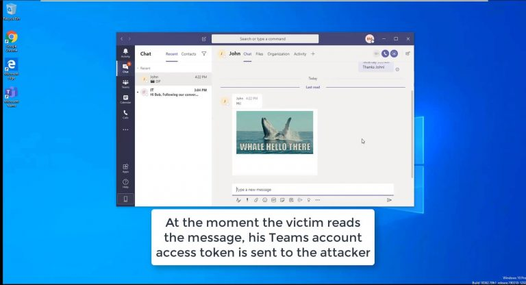 Hacking Microsoft Teams accounts with a GIF image